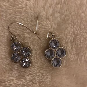Swarovski Purple Dangle Earrings